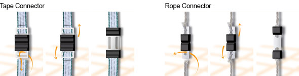 Litzclip Tape and Rope Connector