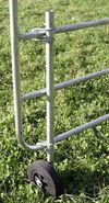 Stützrad für Weidetore